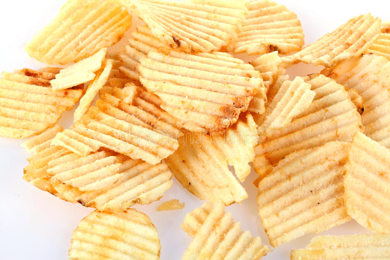 Download Potato chips stock image. Image of lunch, chip, flat - 18803471