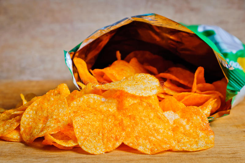 Download Potato chips stock photo. Image of open, snack, unhealthy - 22055358