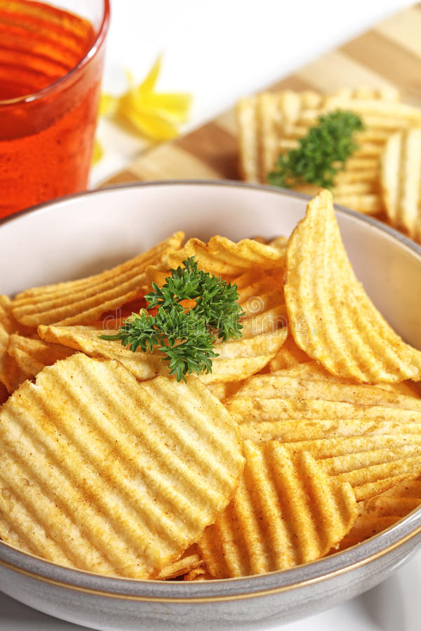 Download Potato chips stock photo. Image of fried, crunchy, parsley - 37989566