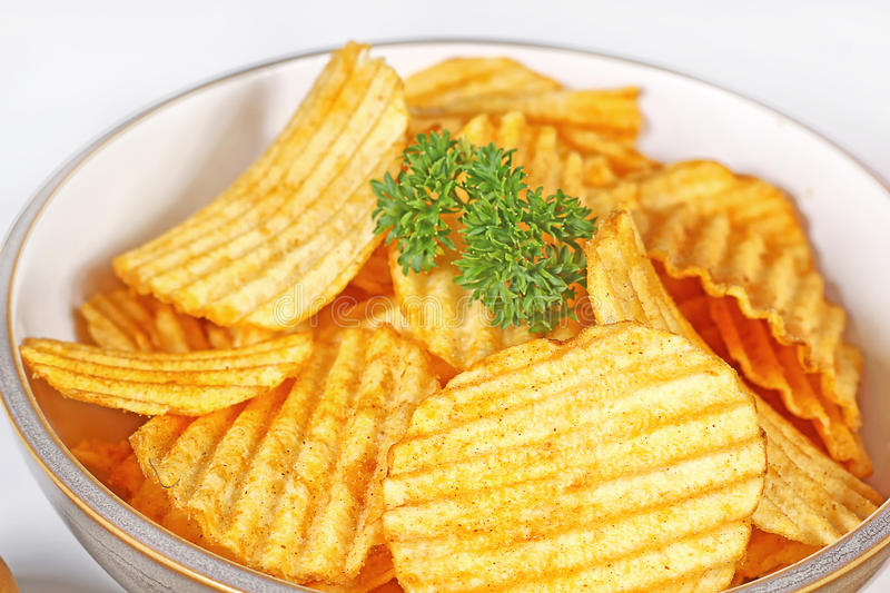 Download Potato chips stock photo. Image of bowl, fatty, crunchy - 37991398