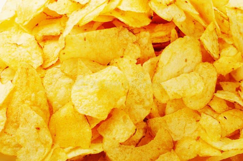 Potato chips background royalty free stock image