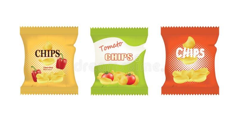 Potato chips bags design. Potato chips bags. vector illustration vector illustration