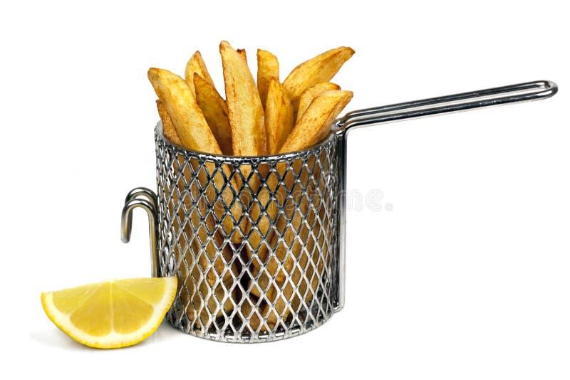 Potato Chips In Basket Stock Image