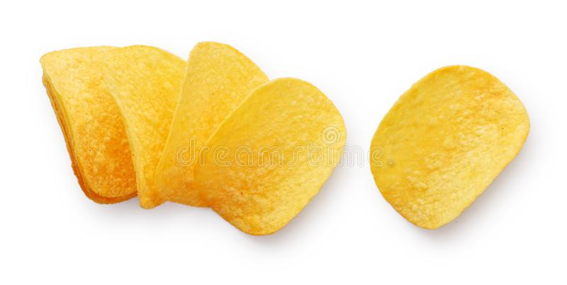 Potato chips isolated royalty free stock photo