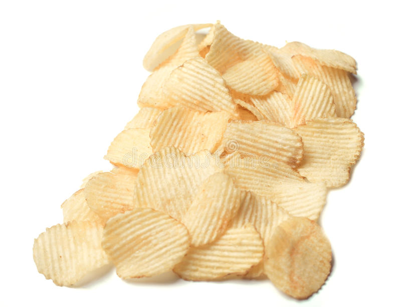 Potato chips. Texture of potato chips close-up royalty free stock photography