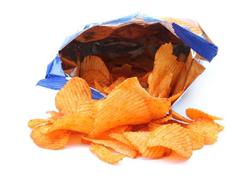 Potato crisps royalty free stock image
