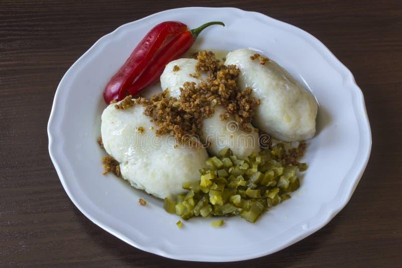 Potato dumplings - a traditional regional dish. stock image