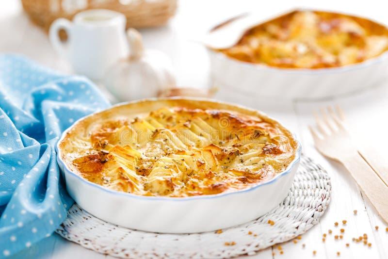 Potato gratin. With cream on breakfast stock photo