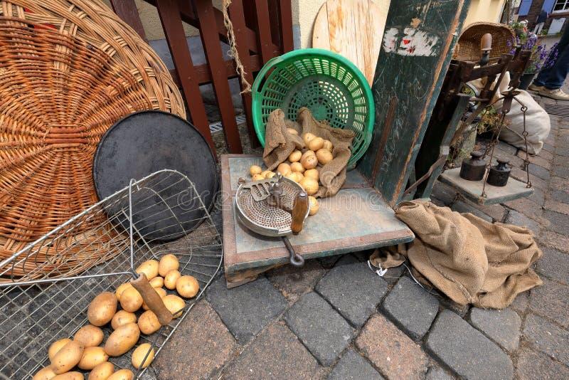 Potato harvest and harvest festival. The Potato harvest and harvest festival royalty free stock photography