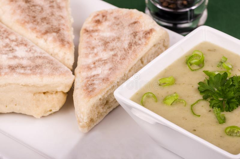 Potato and Leek Soup. stock photos