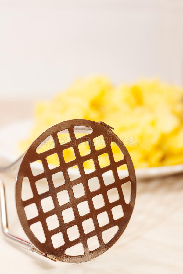 Potato masher closeup royalty free stock images