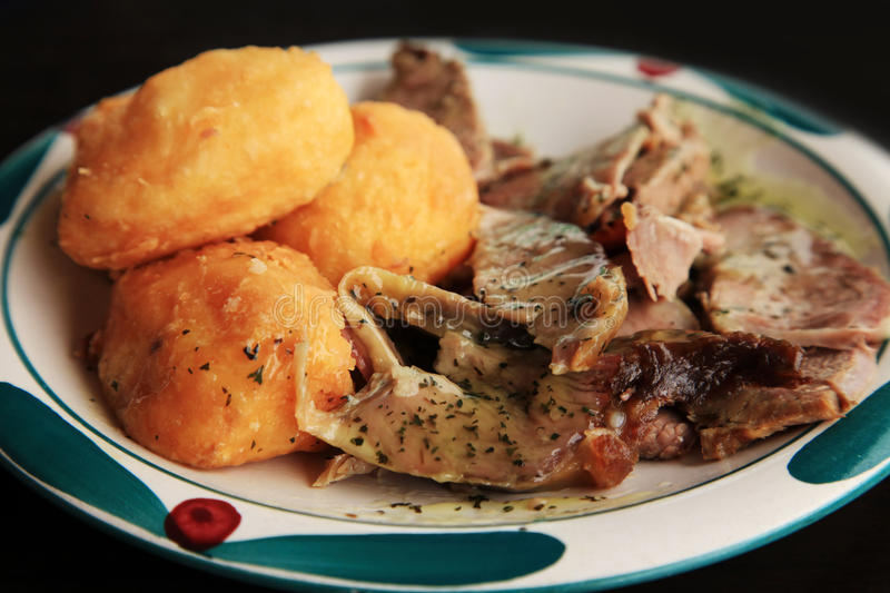 Potato with meat stock image