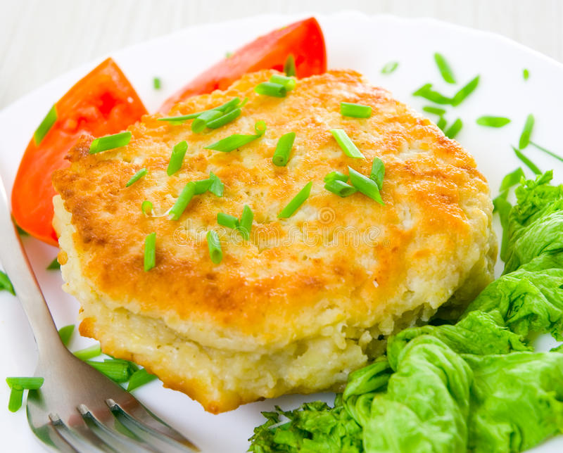 Download Potato pancake stock photo. Image of heat, fritter, circle - 25987296