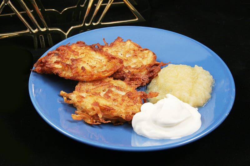 Potato Pancakes - Latkes For Hanukkah stock photos