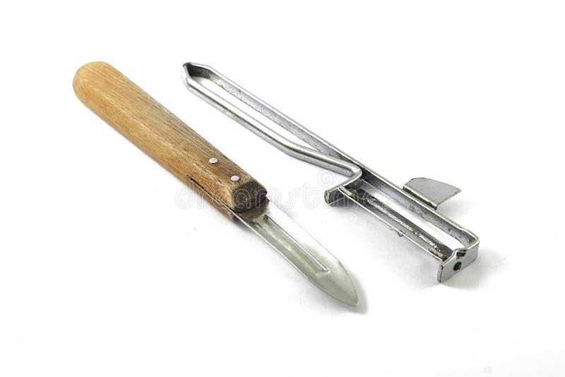 Potato peelers stock image