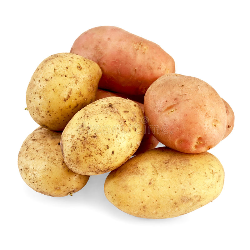 Potato pink and yellow royalty free stock image