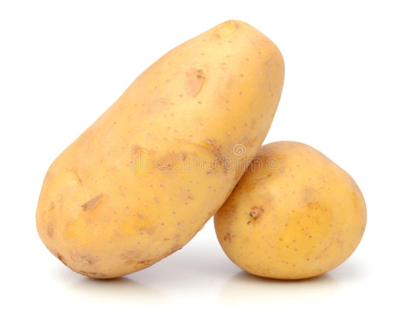 Potato. Raw Potato and Sliced Potato. Sweet, eating stock photos