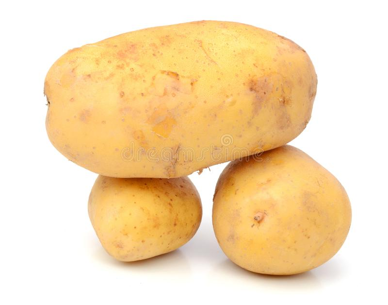 Potato. Raw Potato and Sliced Potato. Sweet, eating stock photo