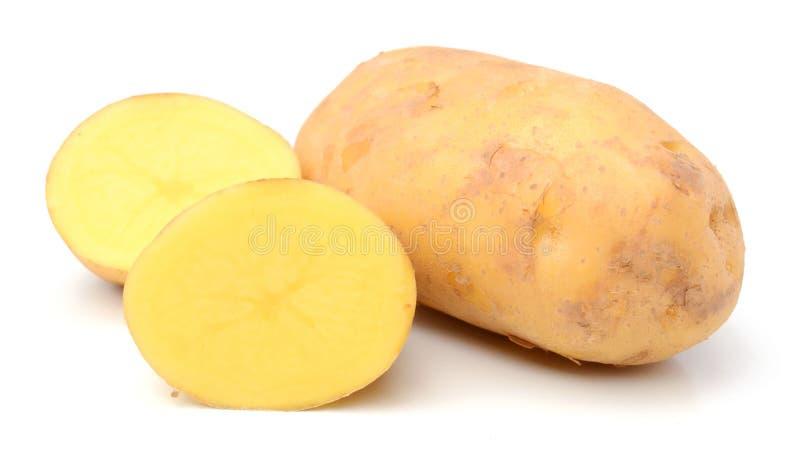 Potato. Raw Potato and Sliced Potato. Sweet, eating royalty free stock image