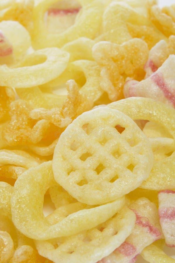 Potato snacks stock photos