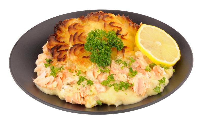 Potato Topped Fish Pie royalty free stock photography