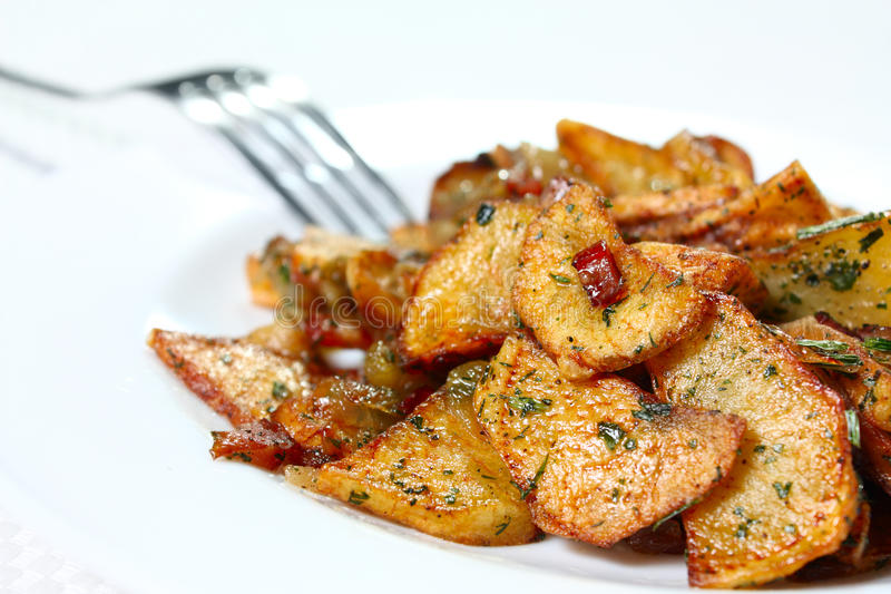 Potato wedges fried royalty free stock photography