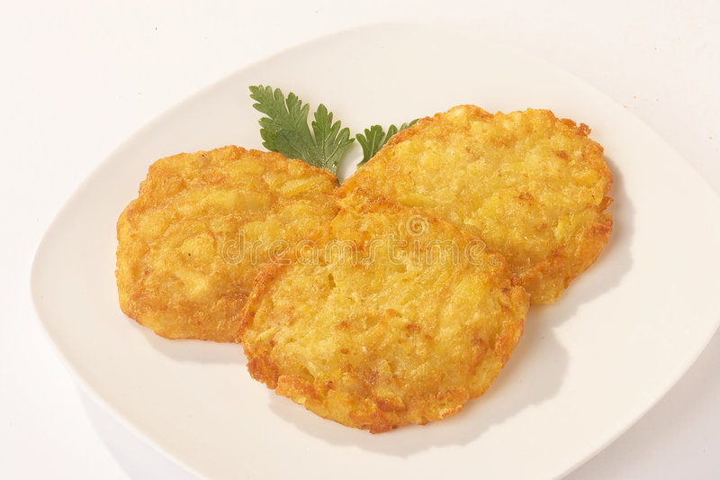 potatoe хлебцев kartoffelpuffer стоковое изображение
