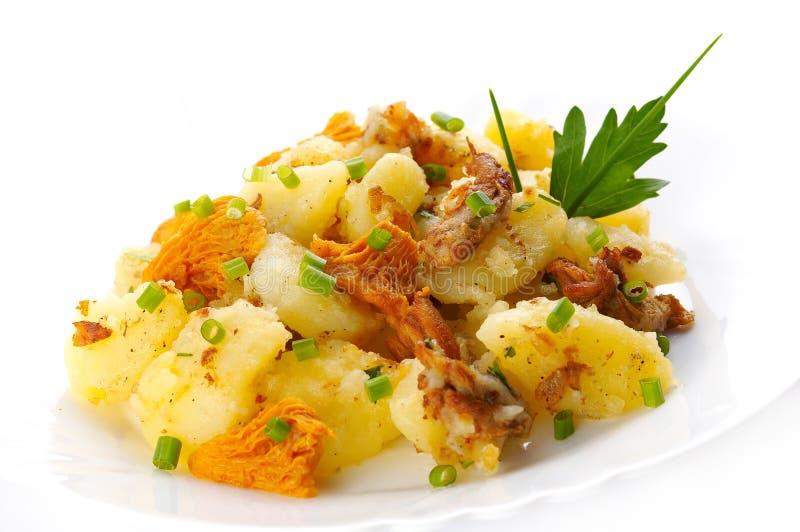 Potatoe with mushrooms stock image