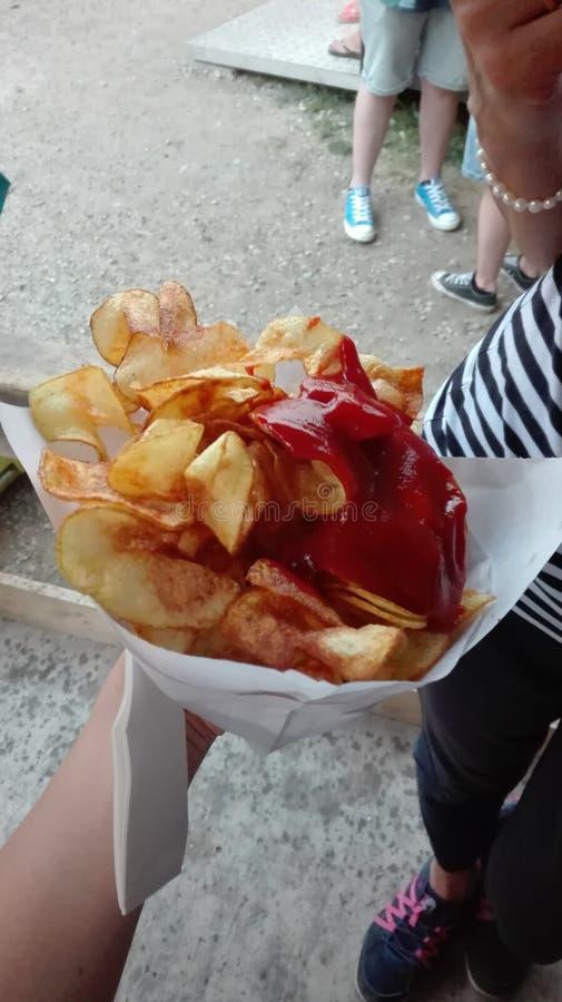 Potatoe-spirales lizenzfreies stockfoto