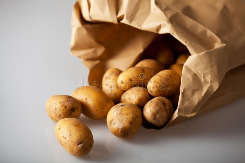 Download Potatoes stock image. Image of produce, spilled, fabric - 13129439