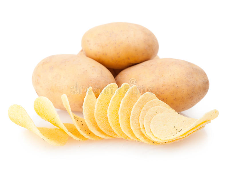 Potatoes and chips stock photo