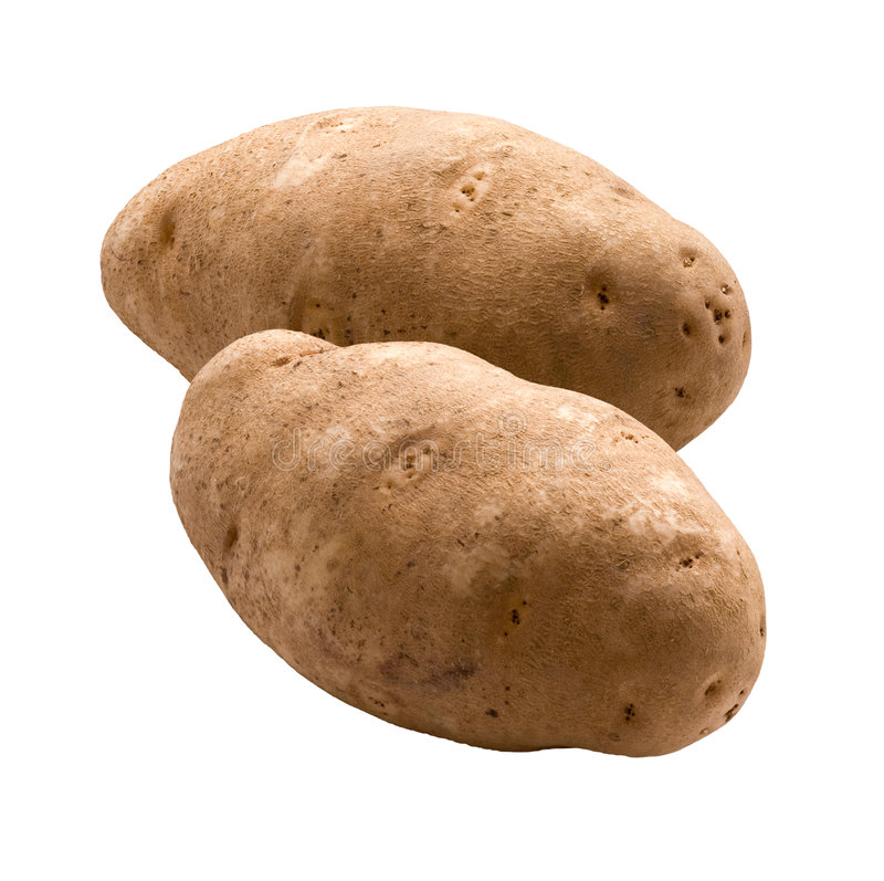 Potatoes (with clipping path). Potatoes isolated on a white background with a clipping path. Isolation is on a transparent layer in the PNG format royalty free stock images