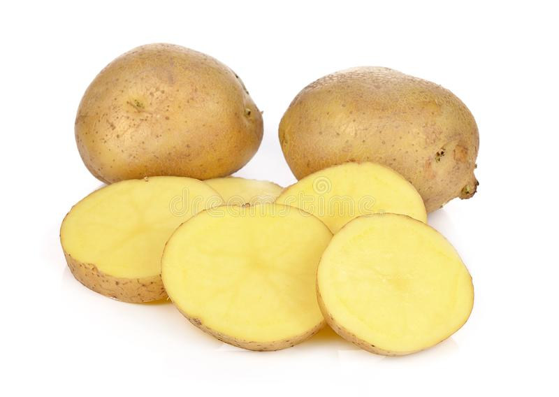 Potatoes isolated on white background stock images