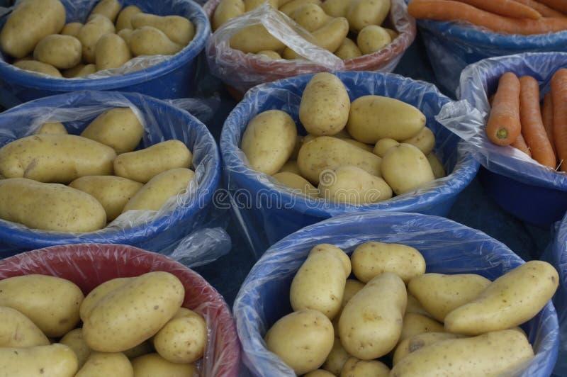 Potatoes at the market stock photo