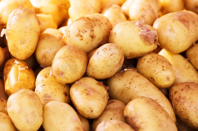 potatoes at market for sale stock photo