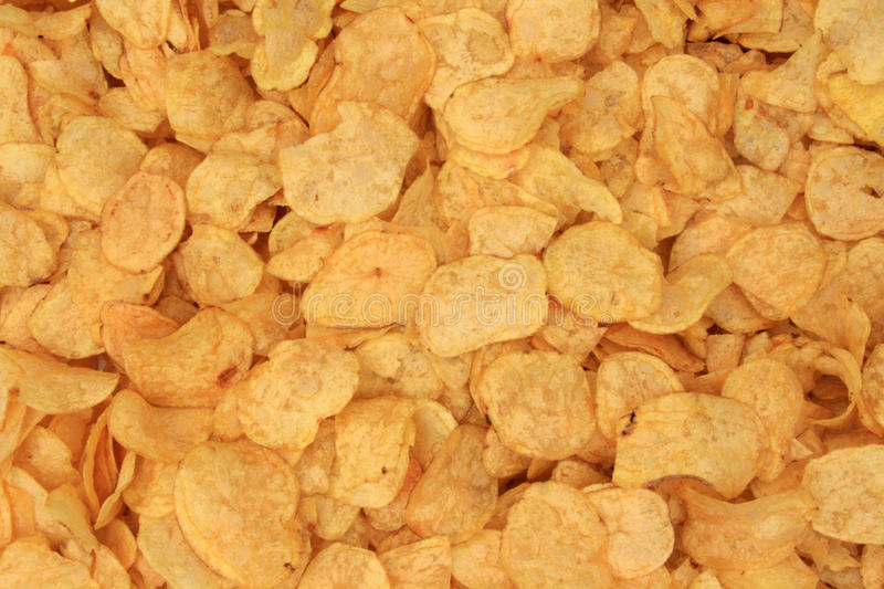 Potatos chips background royalty free stock images
