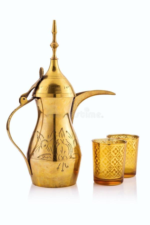 Pote árabe del té imagen de archivo libre de regalías
