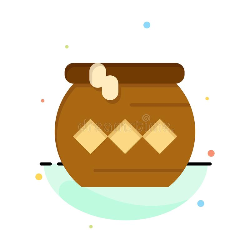 Pote, arena, agua, Pongal, negocio Logo Template del festival color plano ilustración del vector