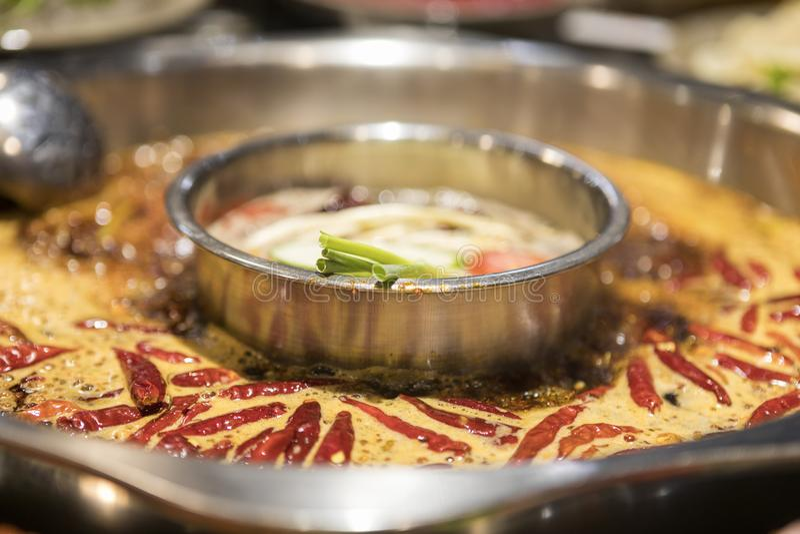 Pote caliente picante delicioso de Sichuan fotografía de archivo libre de regalías
