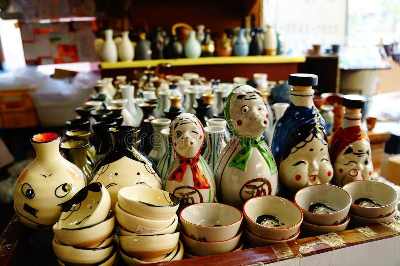 Pote de arcilla japonés imagen de archivo libre de regalías