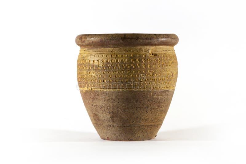 Pote de cerámica viejo de la arcilla foto de archivo libre de regalías