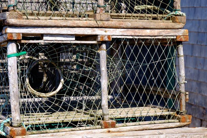 Pote de langosta en Les îles de la Madeleine imagen de archivo libre de regalías