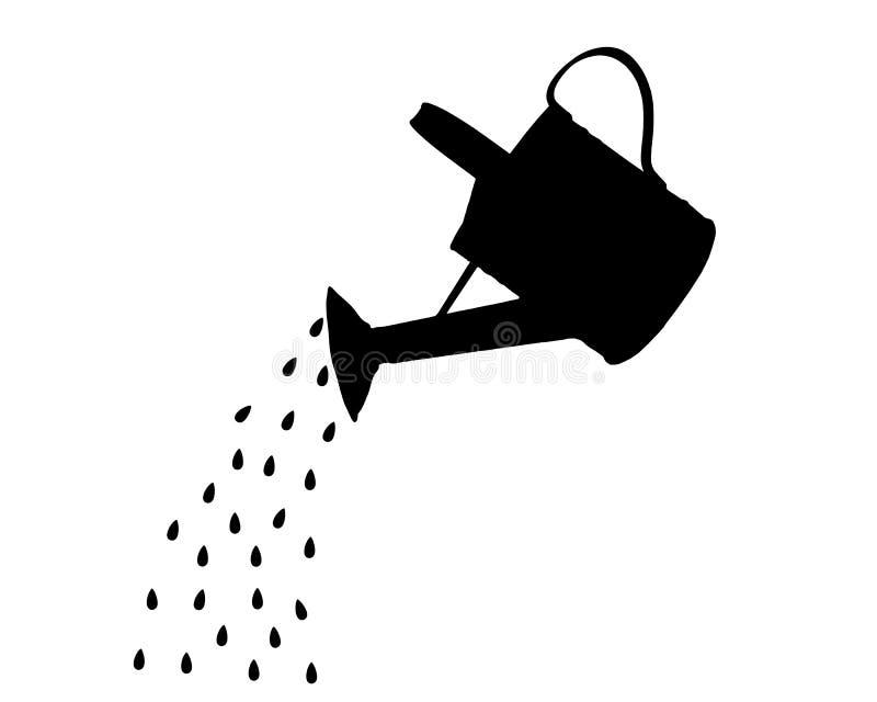 Download Pote de riego ilustración del vector. Ilustración de nostalgia - 41911525
