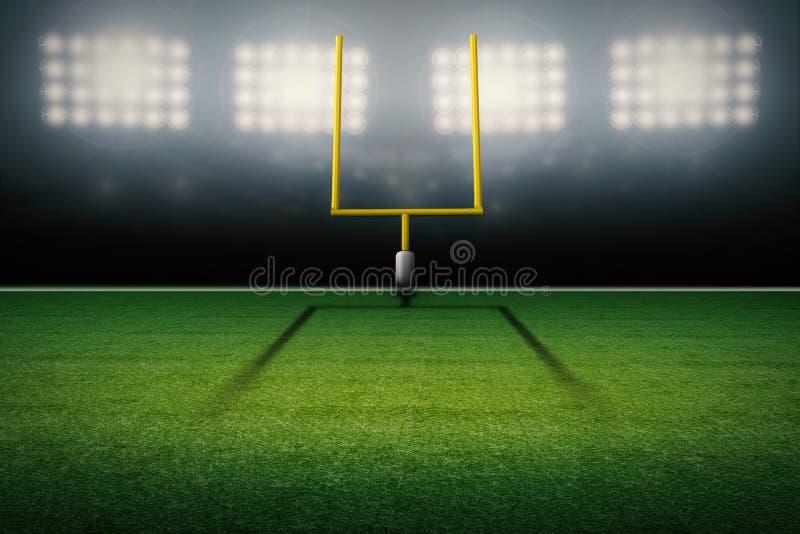 Poteau de but de champ de football américain illustration de vecteur