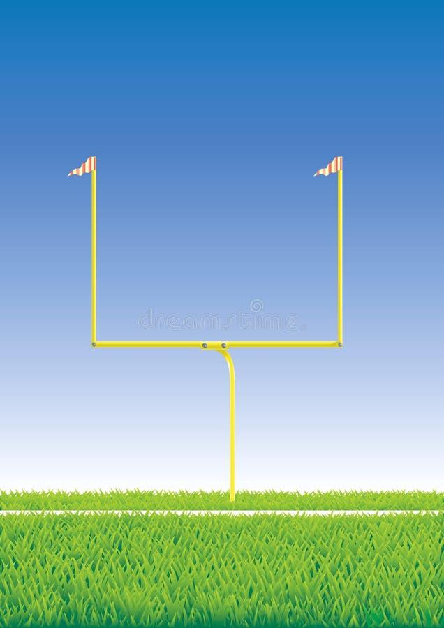 Poteau de football américain. illustration libre de droits