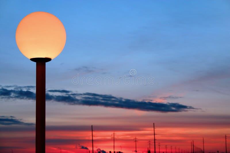 Poteau de lampe images libres de droits
