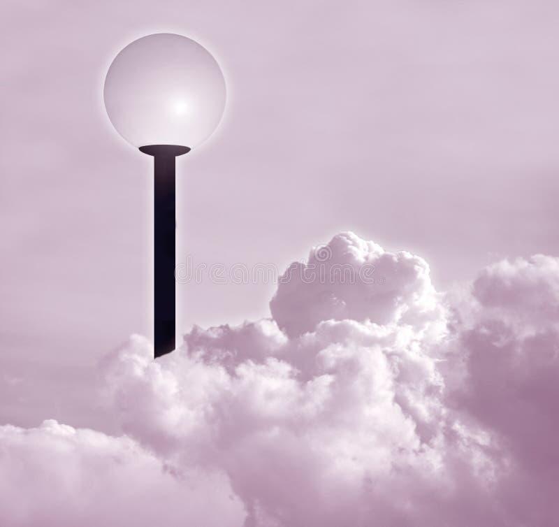 Poteau de lampe illustration libre de droits