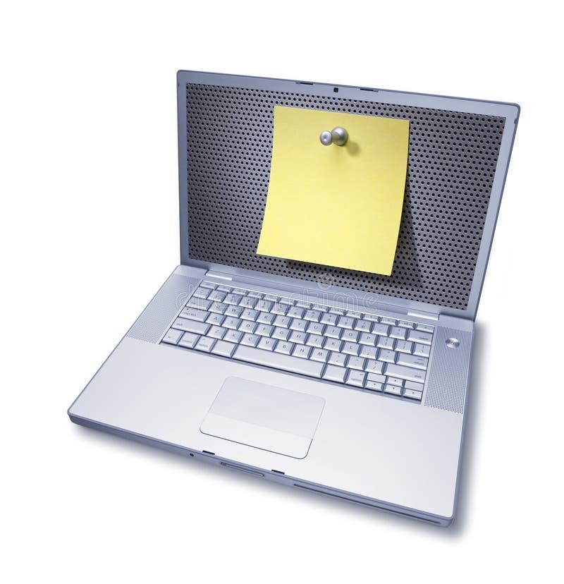 poteau de note de message d'ordinateur
