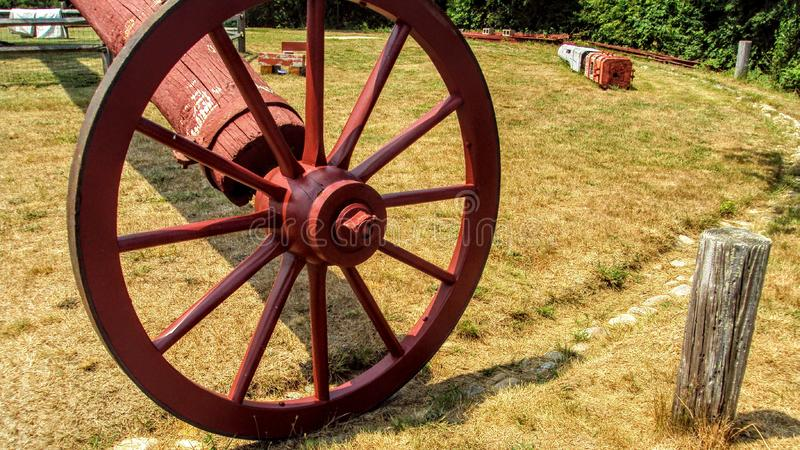 Poteau de roue et de queue du vieux moulin, Nantucket, le Massachusetts photographie stock libre de droits