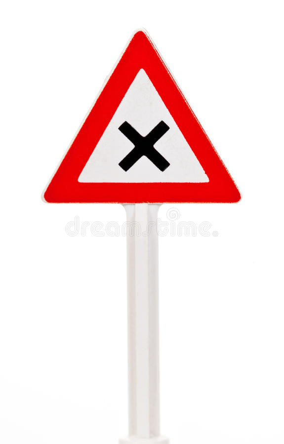 Poteau de signalisation image libre de droits